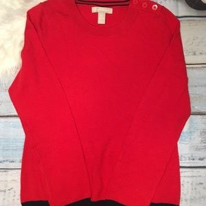 Banana Republic red and blue sweatshirt size S
